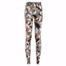 New 3180 Sexy Girl Slim Ninth Pants Army Digital CAMO camouflage Printed Stretch Fitness Women Leggings Plus Size