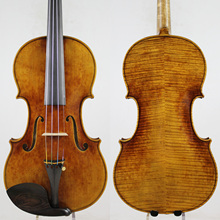 Master Violin ! Identity Copy!Guarneri del GesuThe Cannon1743! Strong and Deep tone!Free Shipping!Aubert Bridge! NO:3