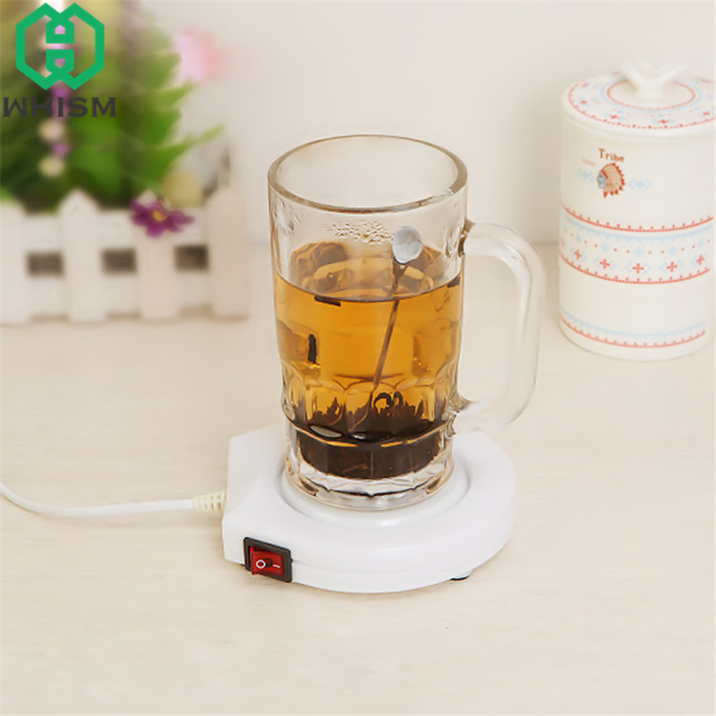WHISM Electric Powered Coaster Warm Cup Heating Pad Coffee Warmer Mat Milk Tea Mug Heater 110V Insulation Table Mats for Kitchen