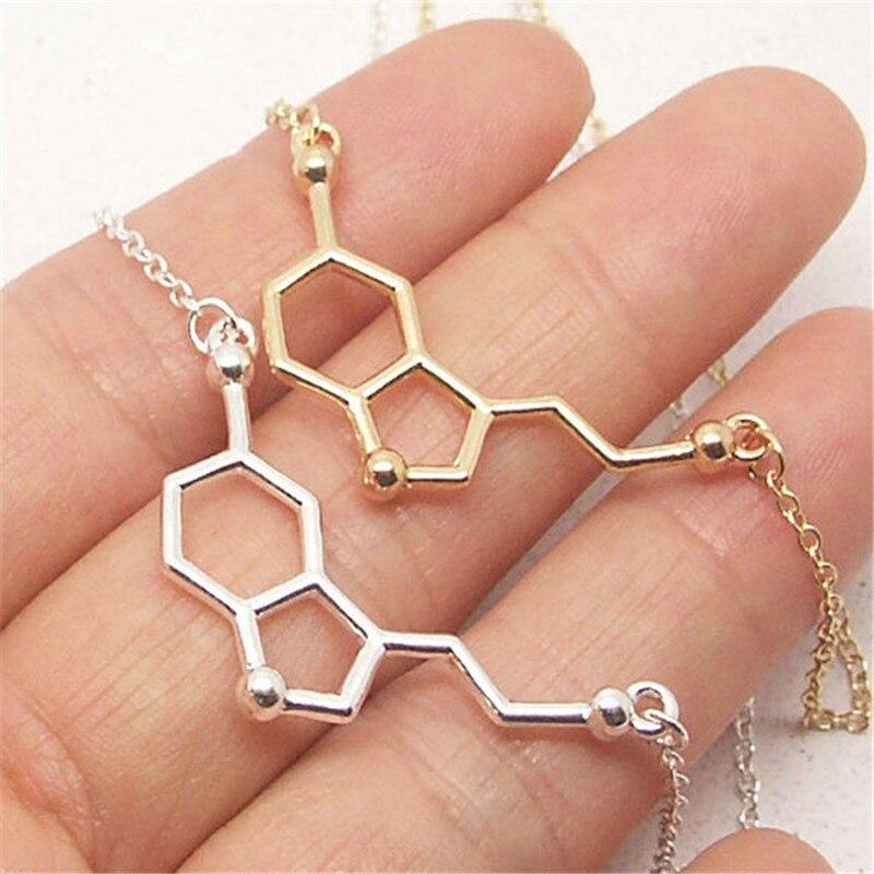 bb701b984946 Serotonina molécula pulsera estructura molecular pulsera fórmula química 5  HT pulsera enfermera joyería Química joyería en Cadena y del Acoplamiento  ...