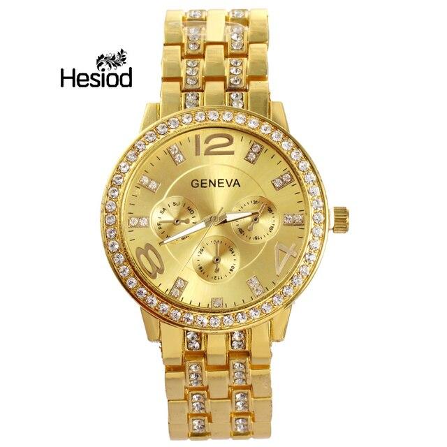 Luxury Women Watches Quartz Wristwatch Crystal Watch Gold Silver Rose Gold Stain