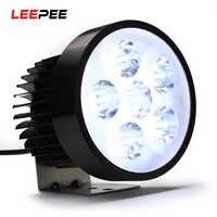 LEEPEE High Power 18W super bright Motorcycle Led light Fog White Headlight Working Light 12V/80V HA10584