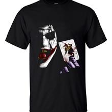 Крутая футболка джокер Хит Леджер Винтаж Бэтмен 2 Лето Новая мода хлопок свободный крой мужские футболки брендовая одежда