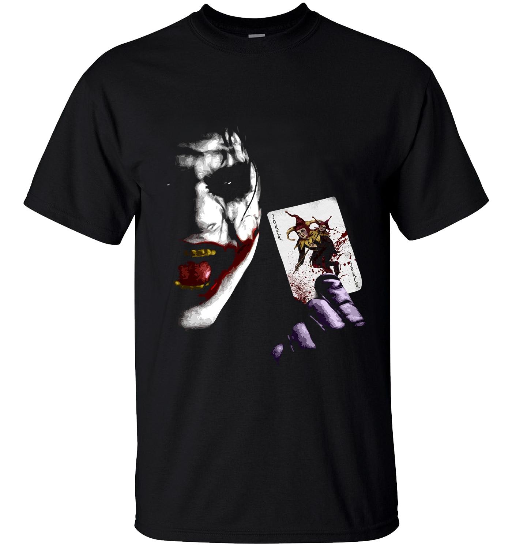 Cool T-shirt Joker Heath Ledger Vintage Batman 2 2019 Summer New Fashion 100% Cotton Loose Fit Men T Shirts  Brand Clothing