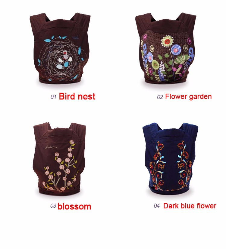 New Designs China Style Baby Carrier Fashion floral Baby Sling Ergonomic Baby Backpack For 0-3 Years