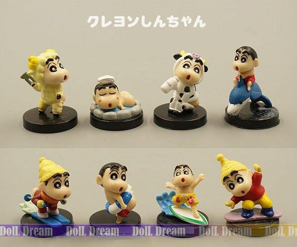 Kids Toys Action Figure: 3 5cm Mini KawaiiJapanese Anime Figure Crayon Shin Chan