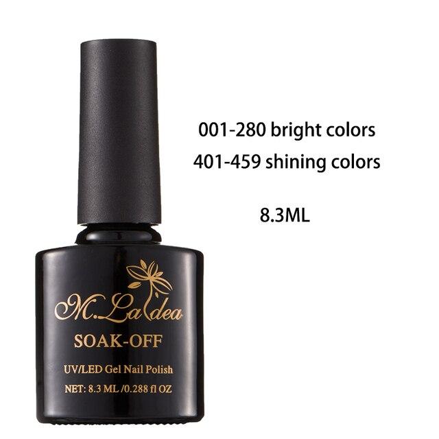 M. ladea 8.3 ML 280 kolorowy żelowy lakier do paznokci UV Led długotrwały lakier do paznokci polski DIY żel do malowania paznokci