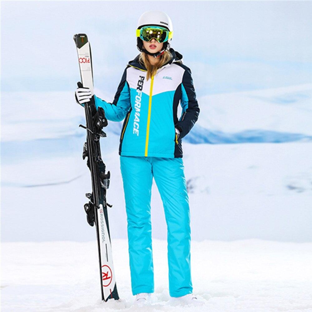2018 combinaisons de ski pour femmes Haute Expérience ski costume femmes snowboard vestes montagne ski snowboard pantalons de neige chaud sports d'hiver