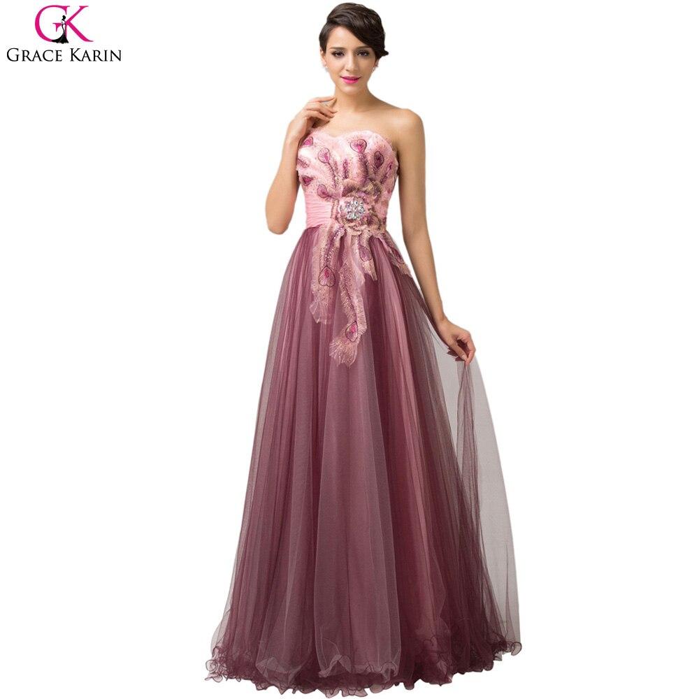 Grace Karin Evening Dresses Abendkleider 2017 Peacock ...