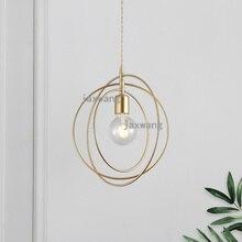 Nordic Led Pendant Lights Copper Lustre Bedroom Bedside Living Room Lamp Cafe Hanglamp Loft Decor Lighting Fixtures