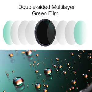 Image 2 - K & F Concept ND8 128 Variabele ND Filter 62mm 67mm 72mm 77mm 82mm GEEN X spot Vervagen Neutrale Densityr Filter Voor Canon Nikon Sony Lens