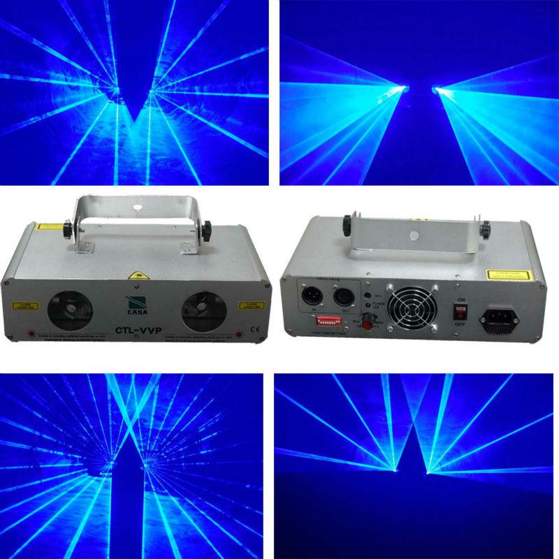 Hot sale 2 Lens 600mW Blue Laser  light DJ light for Disco Party Equipment 1320nm laser lens probe tip head for sale