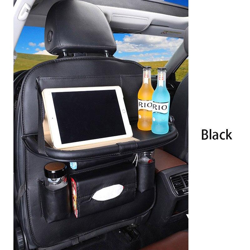 Дропшиппинг, чехлы для автомобиля, дизайн, модное автомобильное сиденье, для хранения, стильная многофункциональная сумка на заднюю часть, детское сиденье, для покупок, для автомобиля - Цвет: Premium black