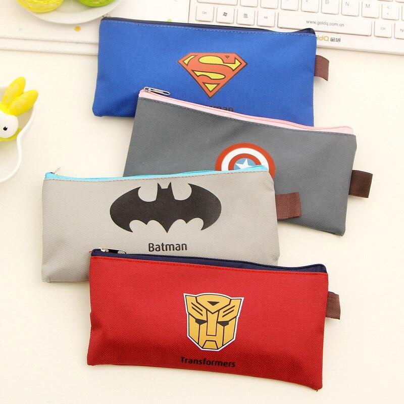 Rilakkuma Schools & Offices Cases School Supplies Case Cartoon Zipper Pencils Box Superman Stationery Bag Storage Pencil K6835