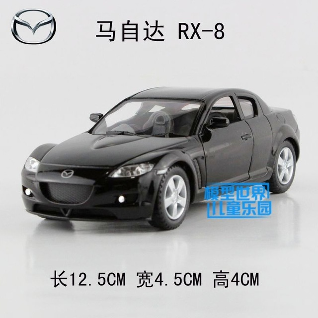 Gift 1:32 12.5cm Kinsmart Mazda RX-8 sports car alloy model pull back children boy toy