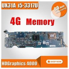 UX31A Motherboard REV4 1 I5 3317U 4G For ASUS UX31A2 UX31A Laptop motherboard UX31A Mainboard UX31A