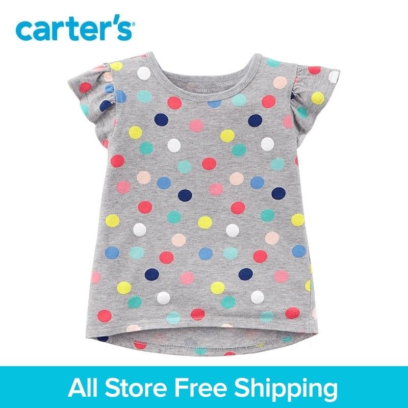 Carters 1-Piece baby children kids clothing Girl Summer Polka Dot Hi-Lo Tee 235H329