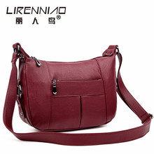 LIRENNIAO Brand 2017 Fashion new Crossbody bags handbag women famous brands bag women leather Shoulder ladies hand Bag Sac Femme