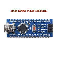 Mini USB V3.0 ATmega328P CH340G/FT232 5V 16M Micro-controller Board With Cable For Arduino(China)