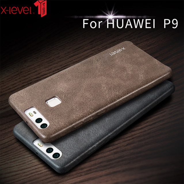 X-Mức Độ Da Trường Hợp Đối Với Huawei P9 Cộng Với 360 Đầy Đủ bảo vệ Chống Sốc Ban Đầu Kinh Doanh Sang Trọng Cover Quay Lại Trường Hợp Cho huawei P9