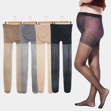 Maternity Ultra Thin Stockings Pregnant Women Pregnancy Pantyhose Adjustable High Elastic Leggings 8D Pantyhose
