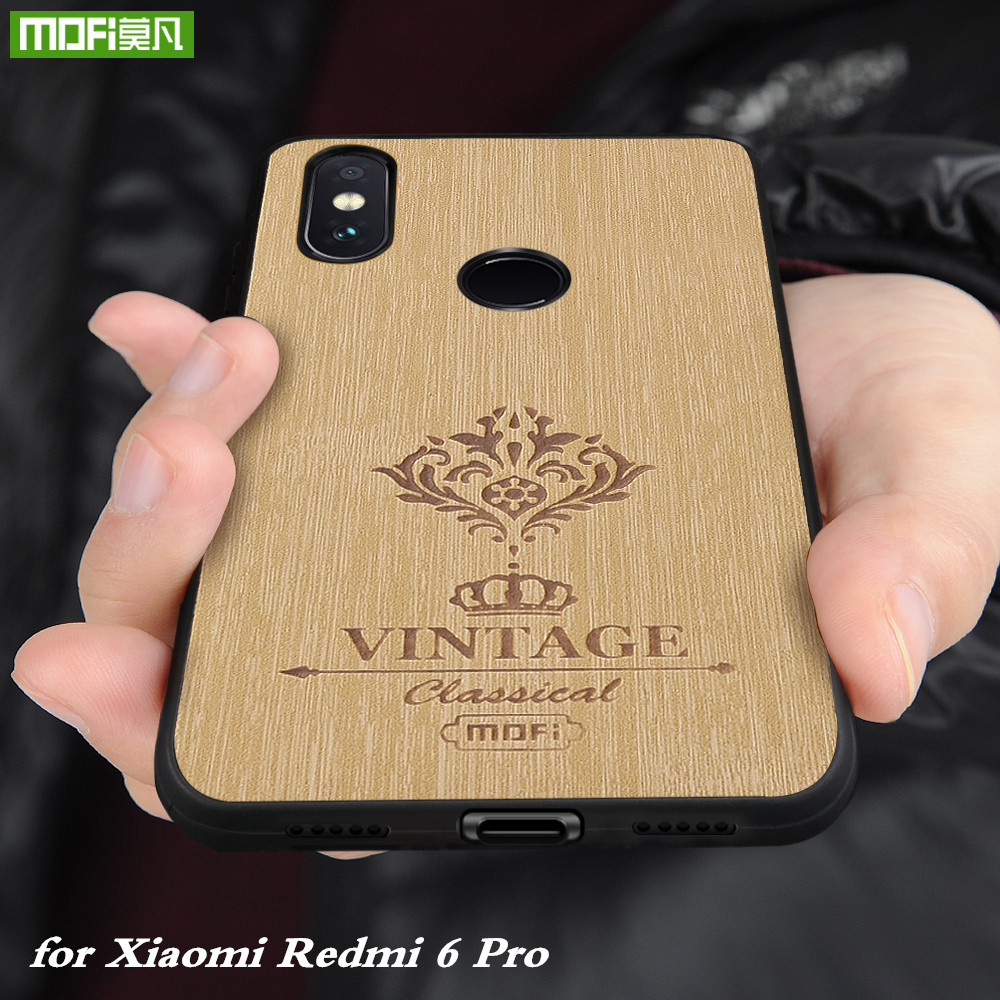MOFi Original Back Case for Xiaomi Redmi 6 Pro Cover PU Leather Housing for Xiomi Redmi 6pro Silicone Coque Mi A2 Lite Global