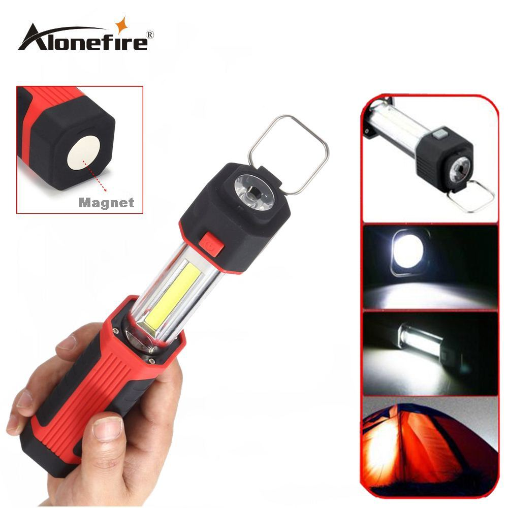 AloneFire C014 COB LED Multifunction Working Inspection light Portable Maintenance flashlight Hand Torch lamp With Magnet