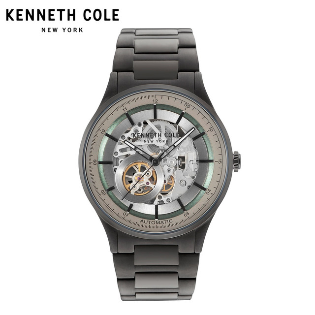Kenneeth Cole Original Mens Mechanical Watches Automatic Self-Wind Stainless Steel 50M Waterproof Male Watch KC15100001