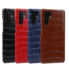 Luxury Crocodile Skin Pattern Genuine Leather Back Case For Huawei P30/ Pro Original Real Cover P30 Cases