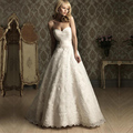 vestido de noivas de renda princesa Lace Sweetheart Floor Length Wedding Gowns Dresses for Bridal 2016 country style weddings