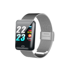 YILIZOMANA Smart Watch LED Screen Waterproof Call Reminder Fitness Tracker Steel / Silicone Band Smart Wristban For Android IOS