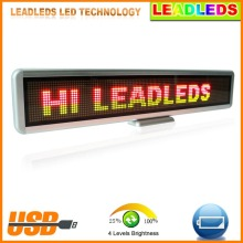 RGY Tri-color Led Car Sign Programmable Message Sign Moving Scrolling LED Display Board Advertising Lights Commercial Lighting