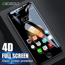 OICGOO 4D Premium Full Cover Tempered Glass For iPhone 8 8 Plus 7 7 Plus 4D Curved Edge Screen Protector Film For iphone 8 Glass