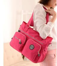 JINQIAOER SELL Fashion womens waterproof nylon handbag with shoulder bag and RED leisure bag.