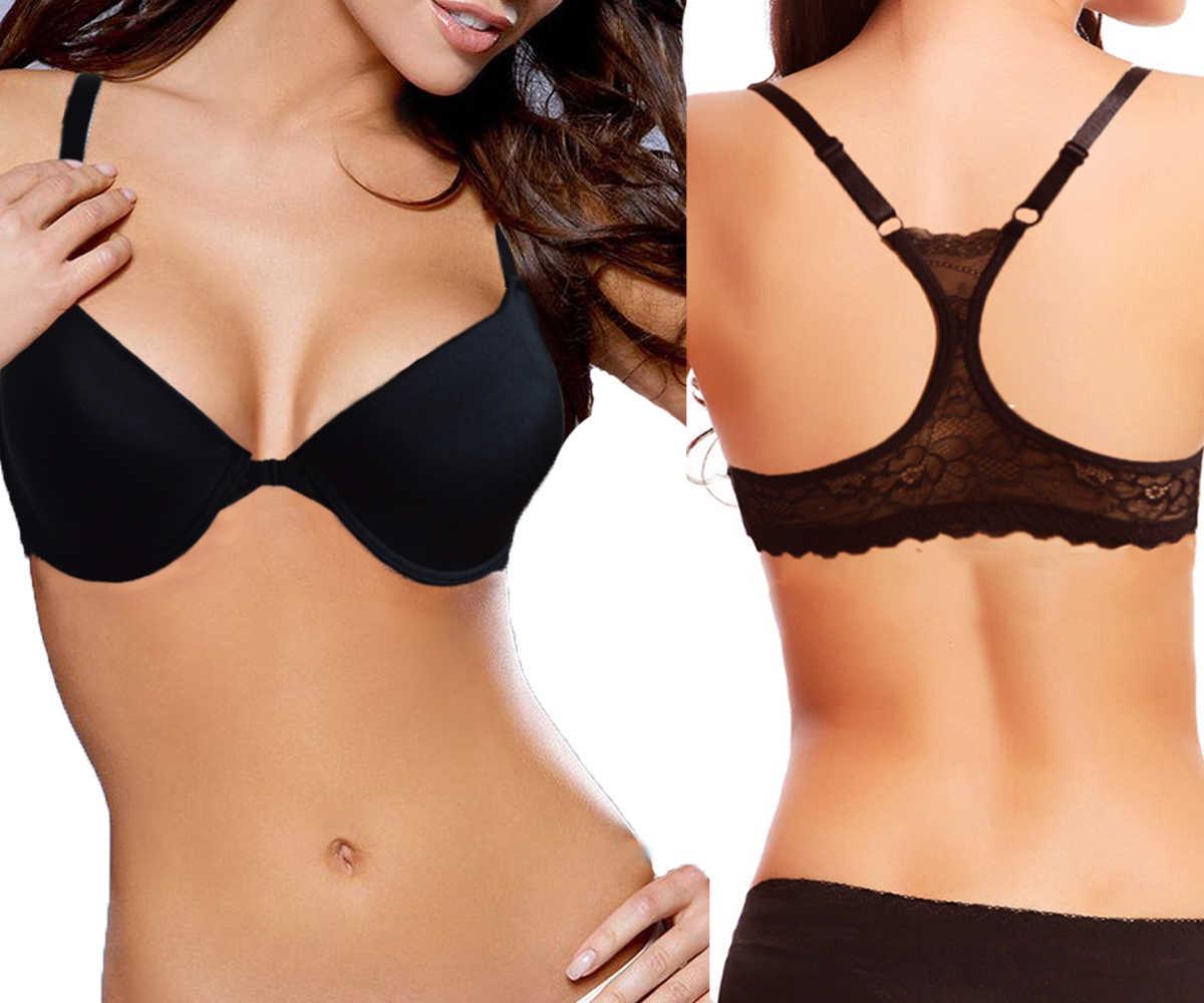 Ladies Secret Women Bra Front Closure Thin Lace Bralette Soutien Gorge Sexy Underwear Lingerie 32 34 36 38 40 42 44 A B C D DD