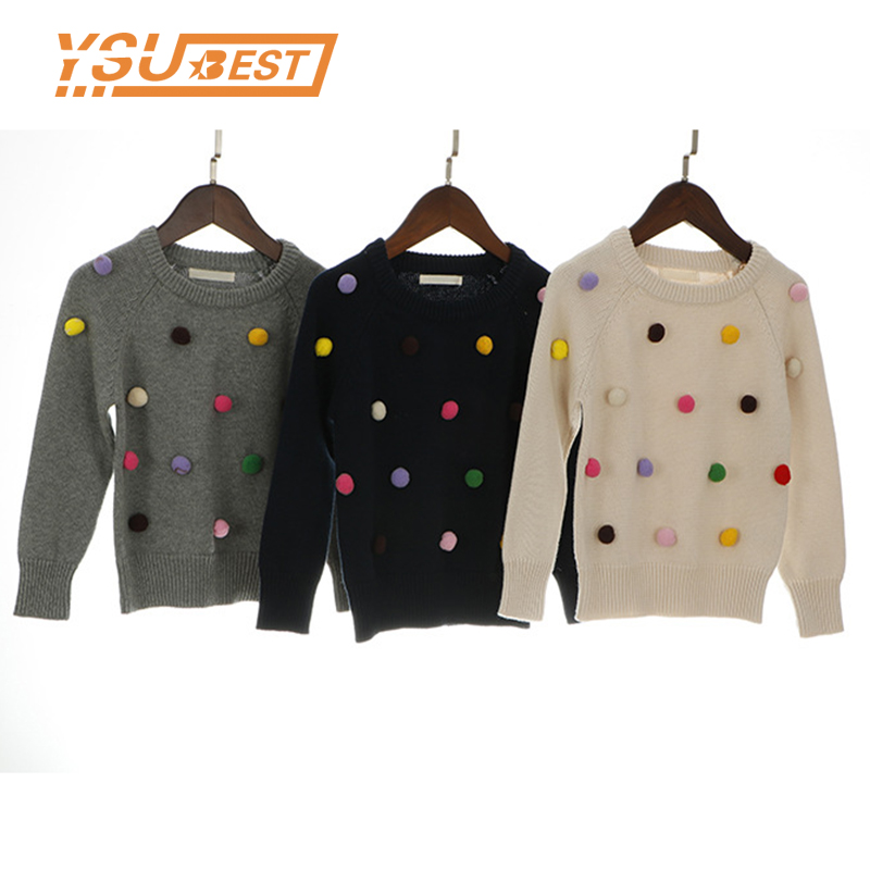 6a0a700c942 2019 Boys Sweaters New Kids Sweater Balls Design Baby Knitted Pullover  Casual Toddler Boys Sweater Woolen