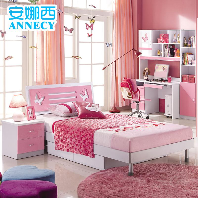 Children's Furniture Suite Twin Teen Girl Princess Storage