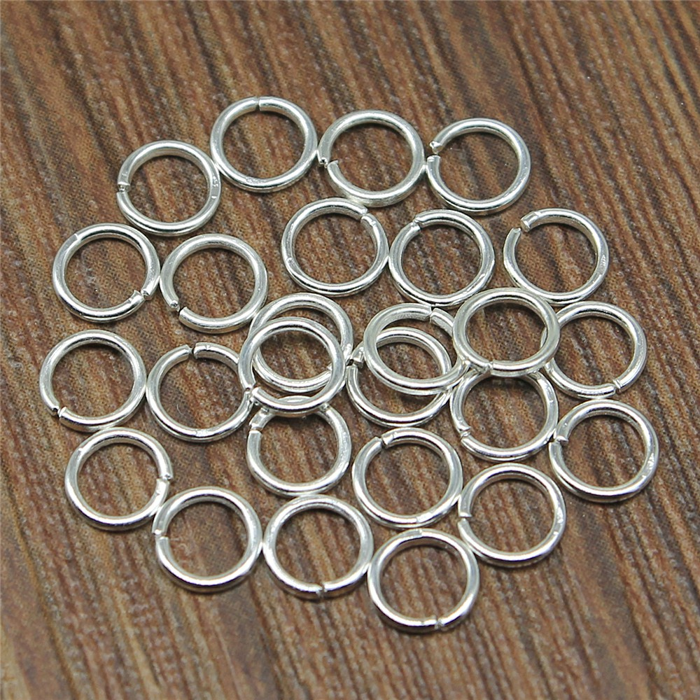 200pcs 5 Colors 3~10mm Metal DIY Jewelry Findings Open Single Loops Jump Rings & Split Ring For Jewelry Making