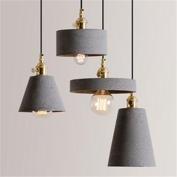 Industrial Wind Vintage LED Pendant Light Edison Loft Bubble Cement HangLamp Home Lighting Antique Pendant Lights Fixtures