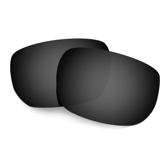 HKUCO Mens Replacement Lenses For Oakley Garage Rock Sunglasses Silver/Transparent Polarized W9L7e0Sx