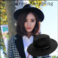 2016 New Style Soft Women Vintage Wide Brim Wool Felt Bowler Fedora Hat Floppy Cloche Women's Panama Sun Hat Trilby