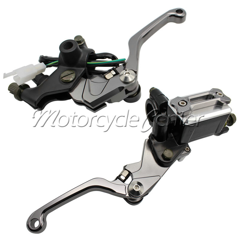 7/8 22mm Brake Hydraulic Master Cylinder Kit Reservoir Levers For Suzuki RM 85 125 250 RMZ 450 DRZ 400R 400 S SM DR 250R 250SB