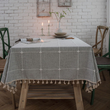 цены Simanfei Arrival Nature Pastoralism Dot Lattice Pattern Lace Edge Rectangular Table Cloth Hiking Outdoor Party Tablecloths