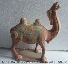 Elaborate Ancient Chinese ceramic antique imitation tang sancai camel statue