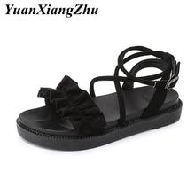 Women Sandals 2019 Fashion Cross tied Summer Female Shoes Woman Platform Sandals Gladiator Ladies Flat Sandals Women Sandalias недорого