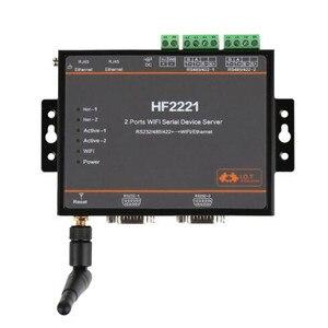 1 шт./упак. 2221 промышленный блок Modbus 2 порта последовательный сервер RS232/RS485/RS422 к WiFi Ethernet устройство конвертер разъем