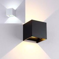 4 Pieces IP65 White Black Box Style Hotel Modern LED Wall Sconce Indoor Outdoor LED Wall