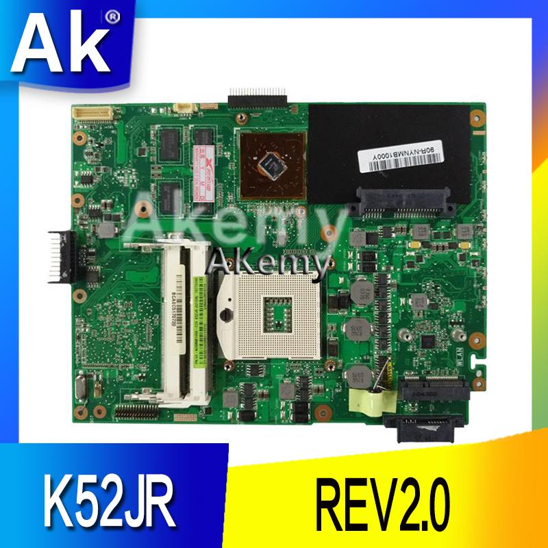 AK  K52JB Laptop Motherboard For ASUS K52JB K52JE K52JR K52JC K52JT K52J A52J X52J Test Original Mainboard K52JR REV2.0