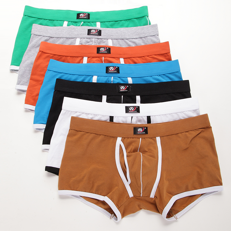 3pcs/lot Sexy Erotic Homens Gay Men Underwear Cueca Masculina String Homme Mens Sexy Underwear Spandex Cotton 5002 PJ