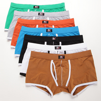 3pcs/lot Sexy Erotic Homens Gay Men Underwear Cueca Masculina String Homme Mens Sexy Underwear Spandex Cotton 5002 PJ